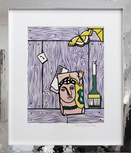 Roy Lichtenstein, 'Léger-head with paintbrush', 1977
