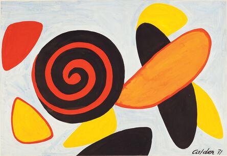 Alexander Calder, 'Red and Black Spiral', 1971