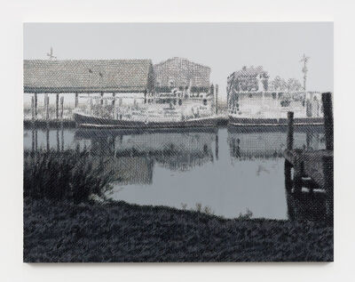 Wayne Gonzales, 'Oyster Boats, Yscloskey, Louisiana', 2019