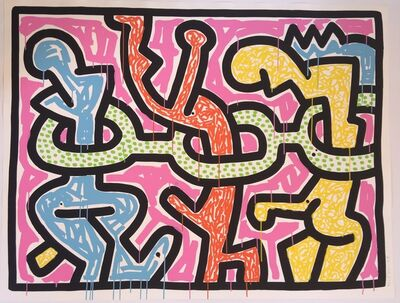 Keith Haring, 'Flowers (2)', 1990