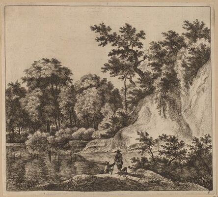 Jan Hackaert, 'Landscape with River and Rock'