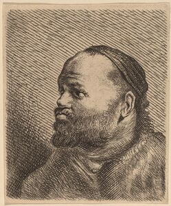 Jan Lievens, 'Bust of a Man with Thick Lips'