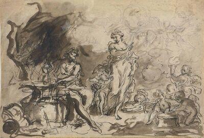 Girolamo Brusaferro, 'Venus at the Forge of Vulcan (recto and verso)'