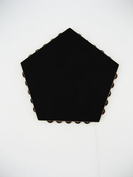 Scoli Acosta, 'Black Pentagonal Monochrome (tambourine)', 2012-2014
