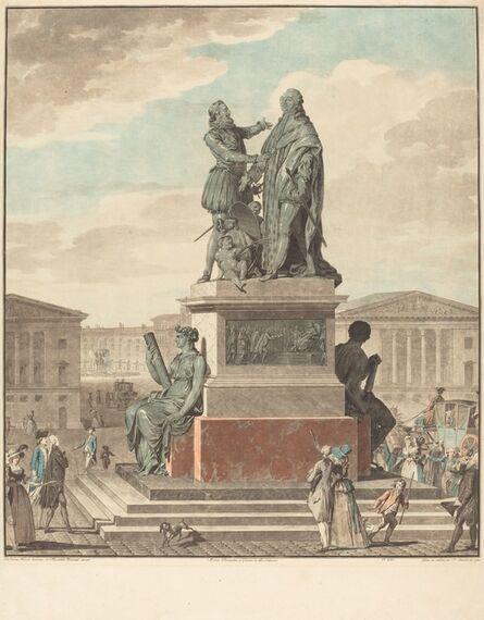Jean-François Janinet after Jean-Michel Moreau, 'Projet d'un monument a ériger pour le roi', 1790
