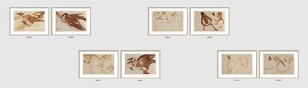 """Dipen Bose, 'Crow Series, Set of 4, Brush on Paper, Recto & Verso by Modern Artist """"In Stock""""', 1961-1964"""