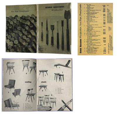 "George Nakashima, '""George Nakashima- Woodworker"", 1950's, Catalogue w/Price List, very RARE', early 1950's"