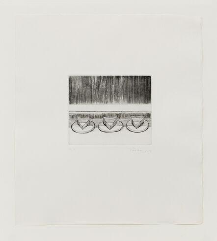 Wayne Thiebaud, 'Case Pies', 1965