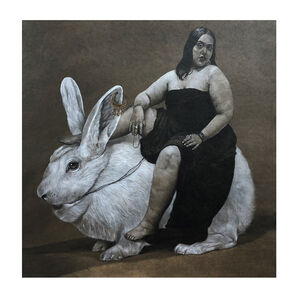 Ahmad Saber, 'Woman & Rabbit', 2020