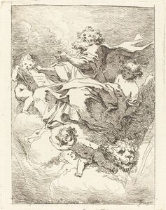 Jean-Honoré Fragonard after Giovanni Lanfranco, 'Saint Mark', 1761/1764