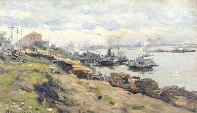 Aleksandr Timofeevich Danilichev, 'Pier in Volga River', 1948