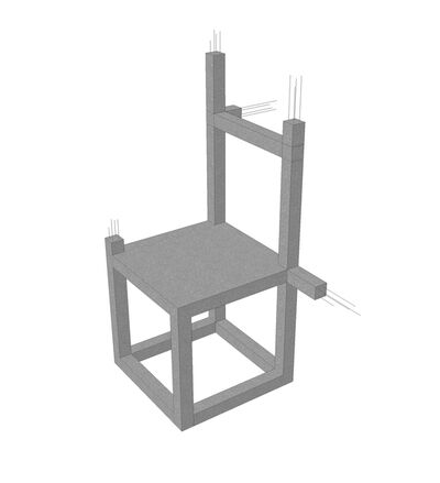 Felipe Arturo, 'Unfinished Concrete Chair', 2015