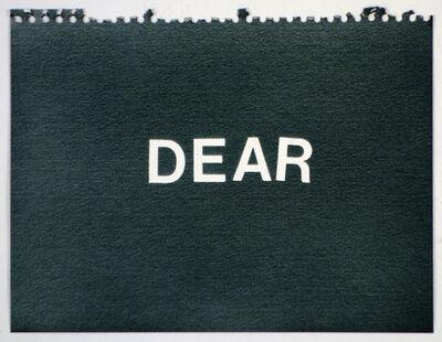 Betty Tompkins, 'Dear (black)'