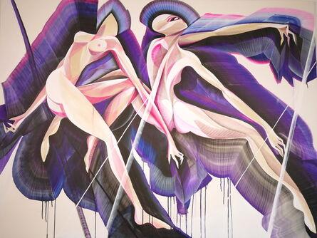 Mik Shida, 'Amethyst dancers', 2018