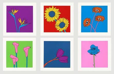 Michael Craig-Martin, 'Domesticated Flowers (Birds of Paradise, Sunflowers, Gerberas, Lilies, Tulips, Rose)', 2021