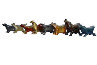 Yuxi Zhang, 'Eight Horses', 2014