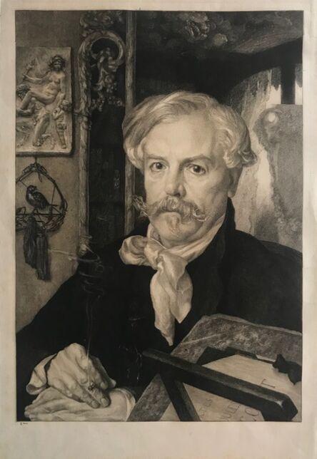 Félix Bracquemond, 'Portrait of Edmond de Goncourt, vi/ix', 1882