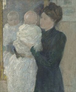 John Henry Twachtman, 'Mother and Child', 1893
