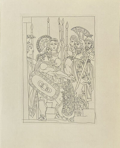 Pablo Picasso, 'Agreement Between the Athenians and the Spartans. Peace', 1934