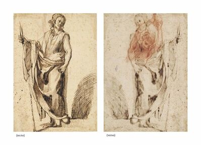 Ludovico Cardi, il Cigoli, 'A standing apostle (recto), Study of an assailant in the Stoning of Saint Stephen (verso)'
