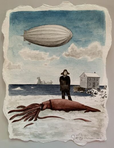 Scott Bluedorn, 'Reverend and the Squid', 2017