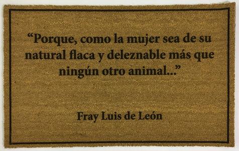Eugenio Merino, 'Doormats (Felpudos) - Fray Luis de Leon', 2020