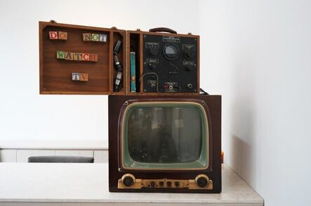 Nam June Paik, 'DO NOT WATCH TV', 1990