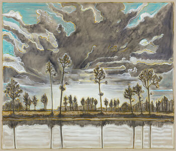 Billy Childish, 'trees and sky', 2019