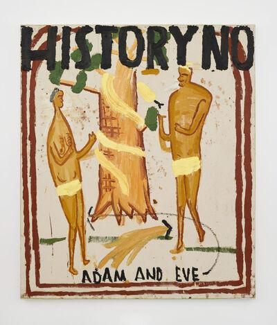 Rose Wylie, 'Illuminated Manuscript, Adam and Eve', 2020