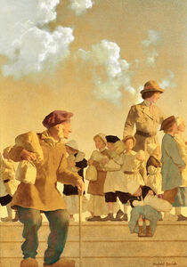 Maxfield Parrish, 'Original Illustration for The Red Cross', 1918