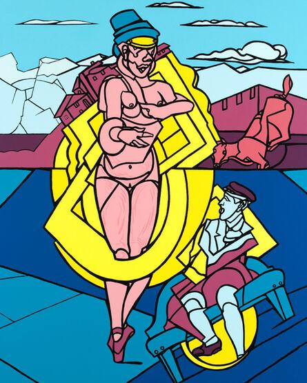 Valerio Adami, 'Femme et chien, original serigraphy', 2014
