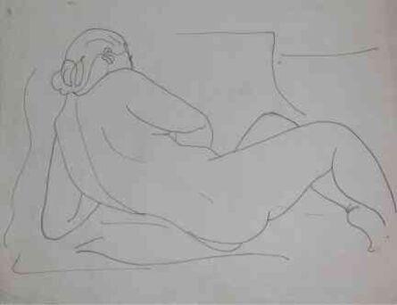 Mariano Rodriguez, 'Mujer de Espaldas', 1941