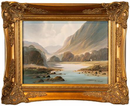 R. B. Higgins, ''Mountain Scene,' Oil on Canvas by R. B. Higgins', ca. 1985