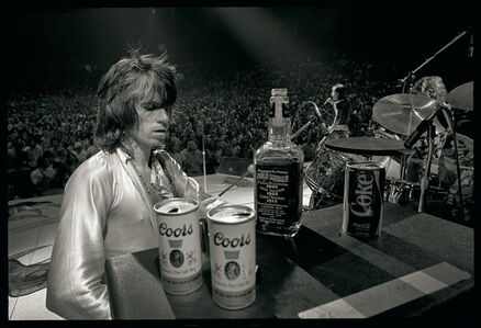 Ethan Russell, 'Keith Richards with Jack & Coors, 1972, Rolling Stones, Music Photography, Black and White Print ', 1972