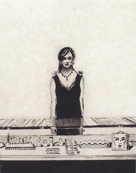 Wayne Thiebaud, 'Counter Woman', 2015