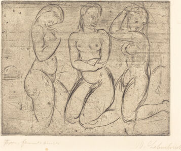 Wilhelm Lehmbruck, 'Three Kneeling Women (Drei Frauen knied)', 1913