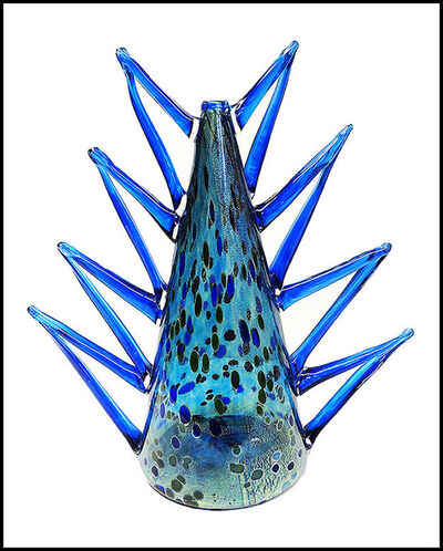 Dale Chihuly, 'DALE CHIHULY Rare Original Venetian Vase Hand Blown Glass Signed Artwork Macchia', 1990-1999