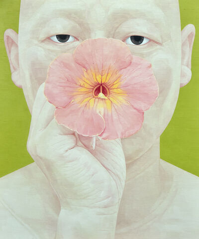 Ungpil Byen, 'Selfportrait as someone- Chinese trumpet creeper', 2016
