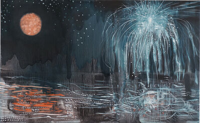 Brian Frink, 'Moon and Fireworks', 2020