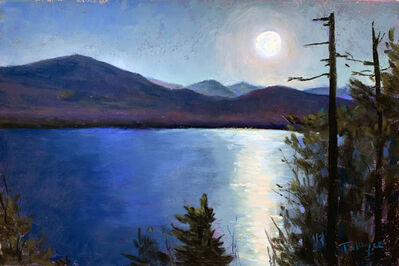 Takeyce Walter, 'Day 23: Silver Moonrise', February 2020