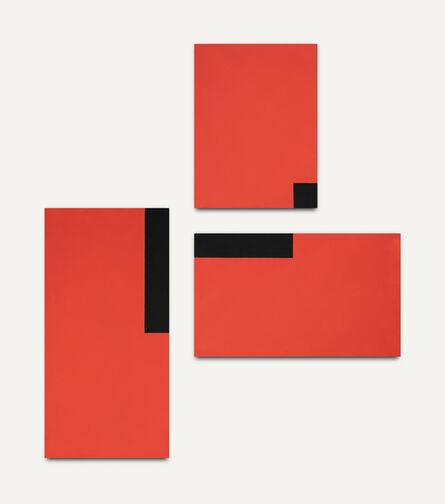 César Paternosto, 'Red Trio #6,', 2015