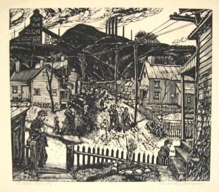 Michael J. Gallagher, 'Black Country (Scranton, PA)', 1937-38