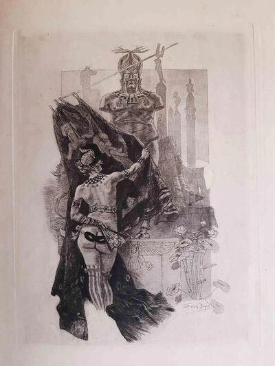 Félicien Rops, 'La Pudeur de Sodome', 1888