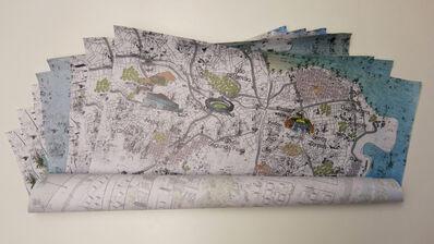 Atelier de Pinturas - Arte Digital, 'Lambe Lambe Indoor Rio de Janeiro Map', 2013