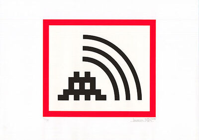 Invader, 'Space Vibes (Red)', 2009