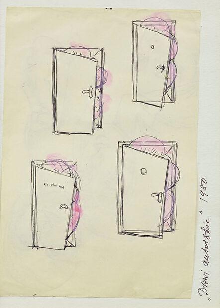 "Maria Pinińska-Bereś, 'Sketch for the sculpture ""Author's door"" (Drzwi autorskie)', 1980"