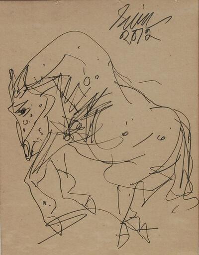 "Sunil Das, 'Horse, Ink on Paper by Master Artist Sunil Das ""In Stock""', 2012"