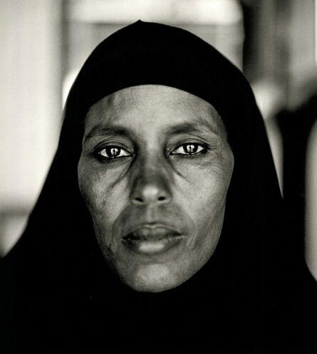 Fazal Sheikh, 'Abshiro Aden Mohammed, Women's Leader, Somali Refugee Camp, Dagahaley, Kenya, 2000, from the series A Camel for the Son. ', 2000