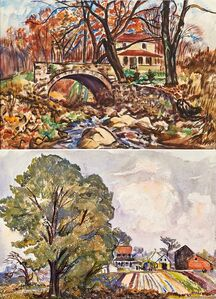 Richard Hayley Lever, 'Two works of art: Near North Caldwell, N.J.; Titled (illegible)'