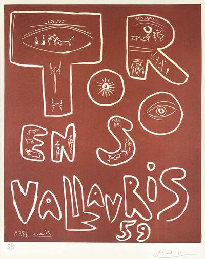 Pablo Picasso, 'Toros en Vallauris', 1959